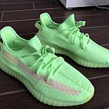 Кроссовки Adidas Yeezy Boost 350 V2 light green  (Адидас Изи Буст салатовые ) женские, фото 2