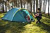 Палатка, четырех, 4, местная, двухслойная, с тамбуром, непромокаемая, туристическая, фото 3