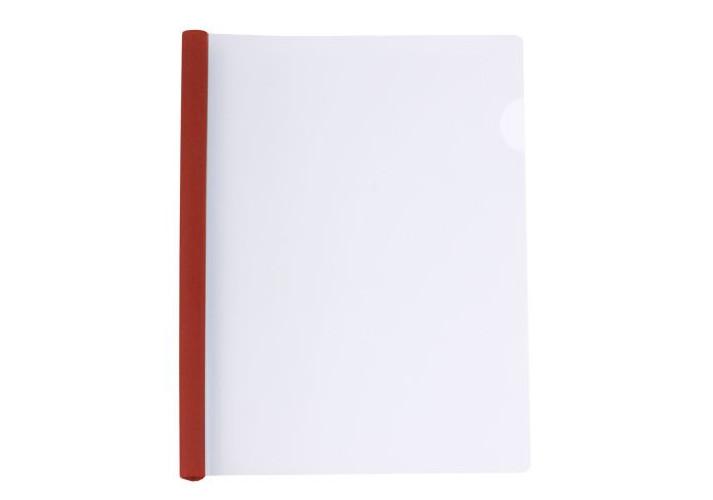 Папка А4 пластикова з планкою-притиском 95 арк, червона