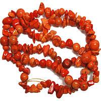 Сколы Камня Говлит Крупные Оранжевые, Размер 6-12*4-8 мм, Около 85 см нить, Бусины Натуральный Камень