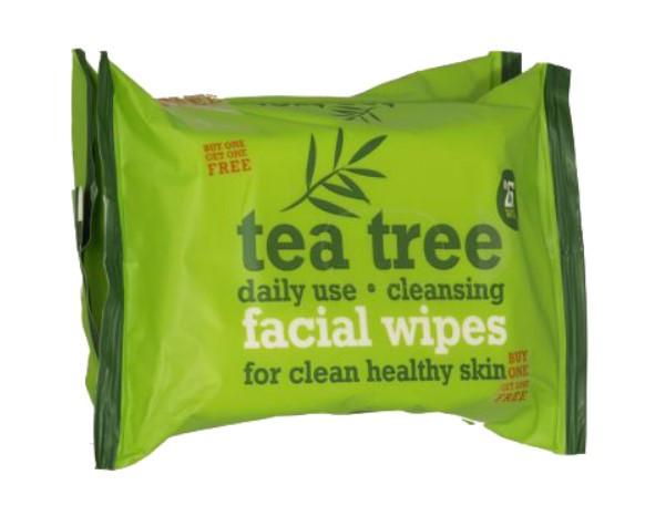 Влажные салфетки для лица с маслом  чайного дерева Xpel Tea Tree oil 2*25шт (шт.)