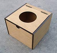 Коробка МУСОРНИК настольный для кофейни, СВЕТЛЫЙ цвет