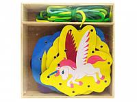 Деревянная игрушка Шнуровка MD 2352 (Единорог)