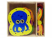 Деревянная игрушка Шнуровка MD 2352 (Морские животные)