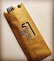 Бумажная упаковка для столовых приборов с логотипом