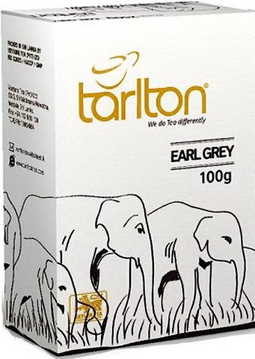 Тарлтон чай черный с бергамотом Earl Grey цейлонский листовой 100 грамм