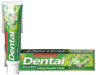 Зубна паста Dental (Болгарія) Натуральне відбілювання і захист 7 трав 100мл
