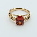 Женские кольца с камнем, позолота, фото 2
