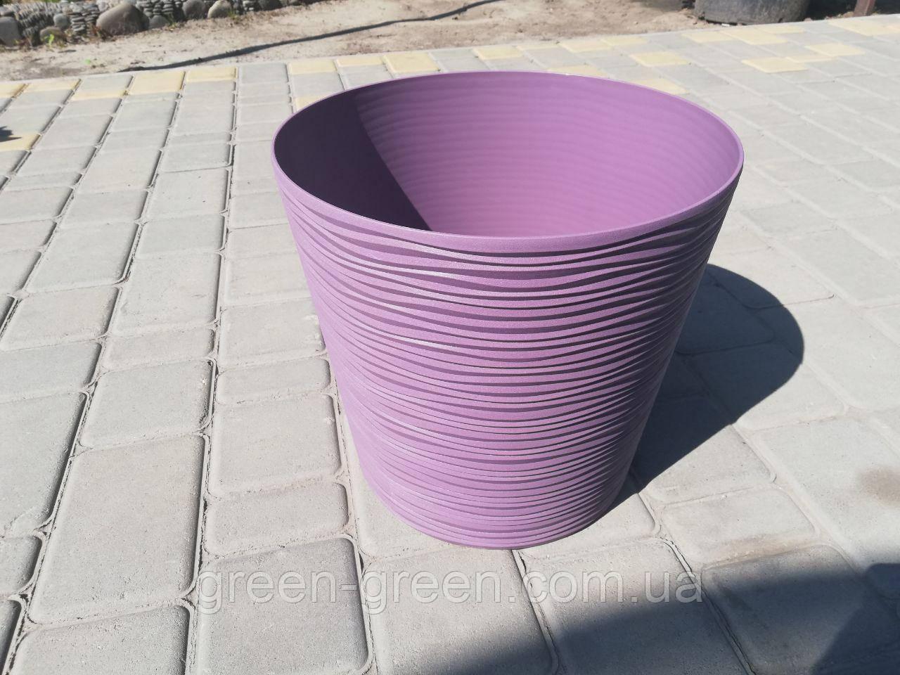 Вазон Ф'южн з дренажної вставкою, 23,5х22 фіолетовий