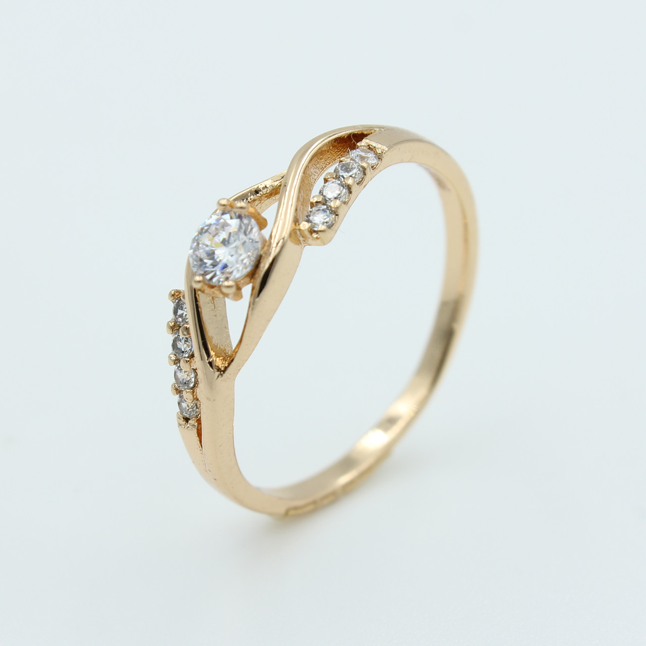 Кольцо Xuping для женщин Завитки, позолота