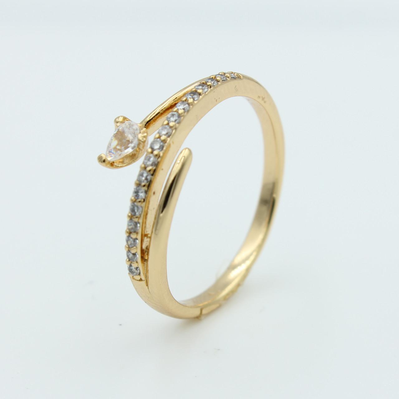 Кольцо Xuping для девушек с камнями Алира, позолота