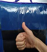 Авточехлы Renault Logan MCV 5 мест (цельный) с 2009-13 г синие, фото 5