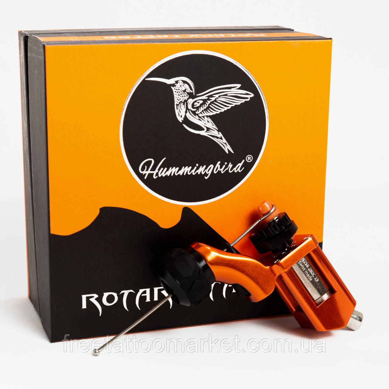 Тату машинка роторная Hummingbird BRONC V3 (оранжевая)
