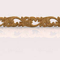 Деревянный багет резной из ясеня, 120 мм