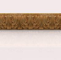 Деревянный багет резной из ясеня, 60 мм