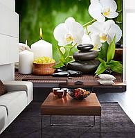 """Фото Обои """"Свечи с орхидеями"""""""