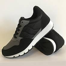 Кросівки підліткові для хлопців чорні LaVento