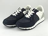 Кросівки підліткові для хлопців біло-сині LaVento, фото 2