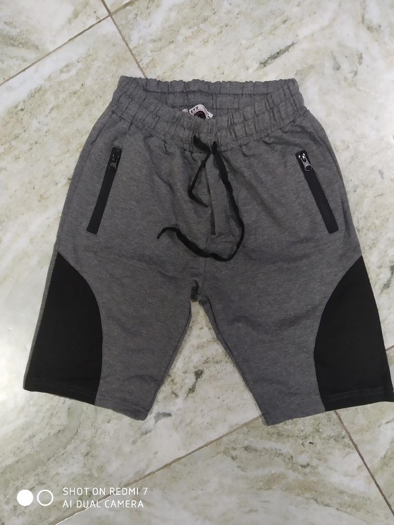 Трикотажные  шорты  на подростков  серый  152 -158 см