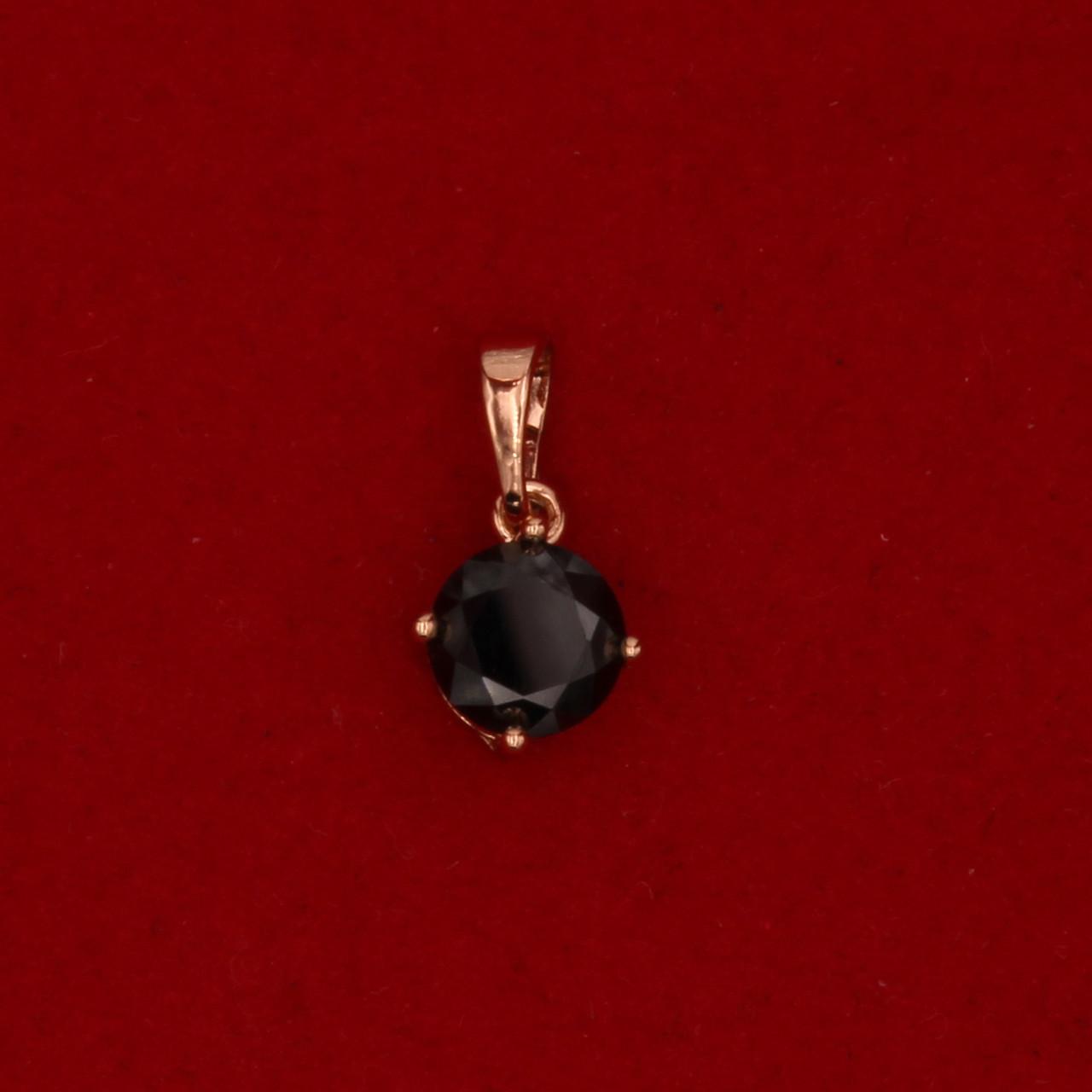 Кулон Xuping для жінки Чорний, позолота, циркон 16мм