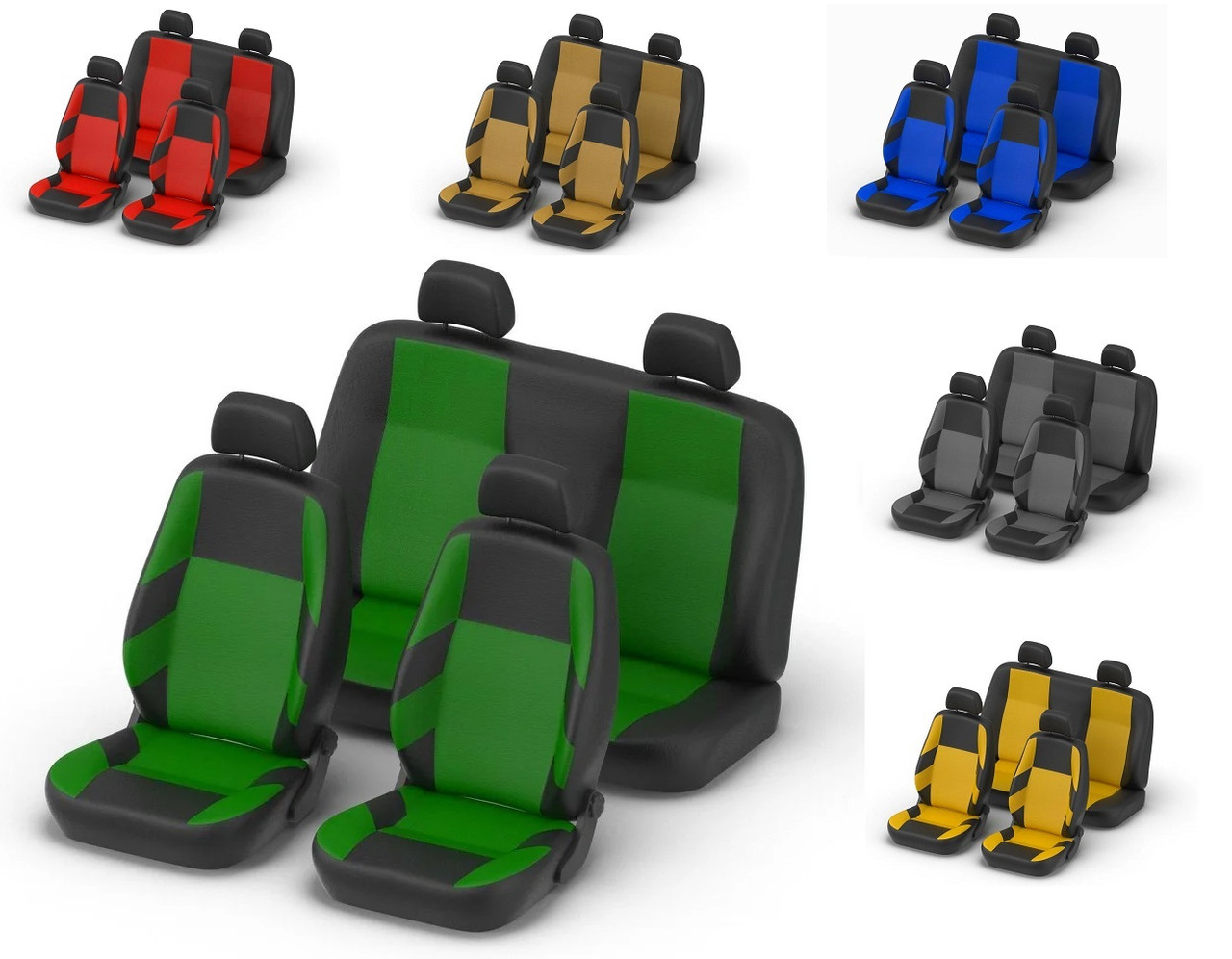 Авточехлы Volkswagen Caddy 5 мест с 2010 г зеленые