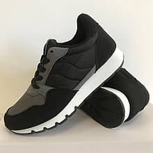 Кроссовки подростковые для мальчика черные LaVento