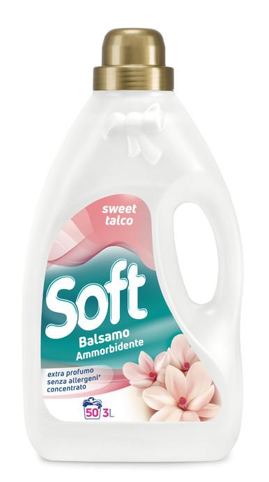 Кондиционер ополаскиватель сладкое масло Soft 3л 50 стирок