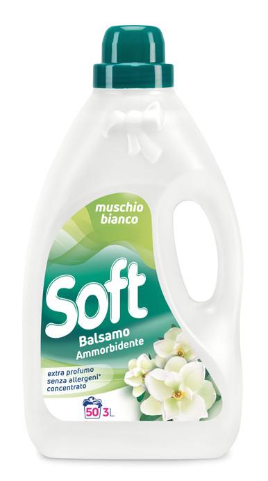 Кондиціонер ополіскувач білий мускус Soft 3л 50 прань