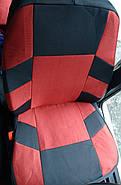 Авточохли Fiat Doblo (1+1) c 2010 р червоні, фото 2