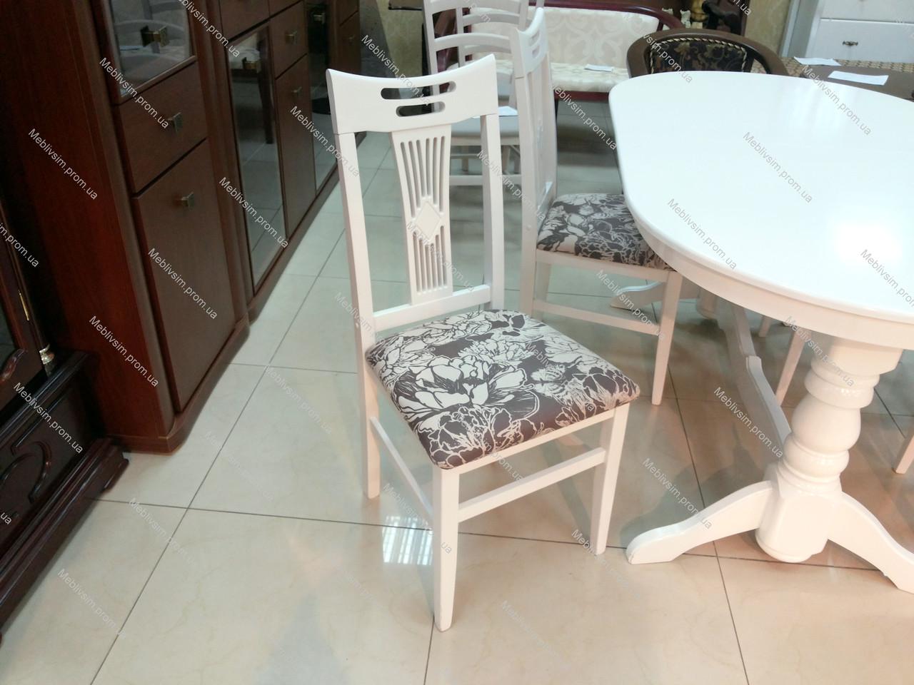 Стул кухонный Юля  (твёрдая спинка) Микс мебель, цвет белый