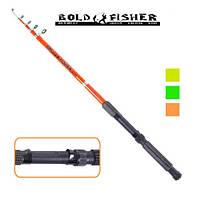 Спінінг вудка телескопічний STENSON Bold fisher 3.0 м 60-120 г 6k вудилище