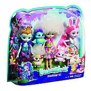 Набір ляльок Enchantimals Энчантималс Кращі подруги і їхні вихованці Кролик Павич Овечка FMG18, фото 2