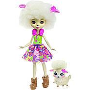 Набір ляльок Enchantimals Энчантималс Кращі подруги і їхні вихованці Кролик Павич Овечка FMG18, фото 5