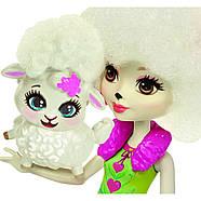 Набір ляльок Enchantimals Энчантималс Кращі подруги і їхні вихованці Кролик Павич Овечка FMG18, фото 9