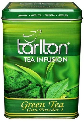 Чай зелений Tarlton Gunpowder цейлонський листовий 250 грам в жерстяній банці