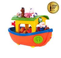 Игровой набор Kiddieland «Ноев ковчег» каталка-сортер, 12 стишков, песенка, легенда Ноя, чудо-пианино, звуки животных 049734