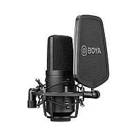 Студийный микрофон BOYA BY-M1000 с большой диафрагмой 34мм всенаправленный конденсаторный