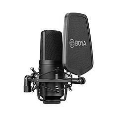 Микрофон конденсаторный BOYA BY-M1000 с большой диафрагмой 34мм всенаправленный студийный