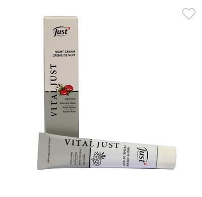 Нічний крем Альпійська Троянда Vital Just Night Cream Alpenrose 30мл JUST ЮСТ Швейцарія ОРИГІНАЛ