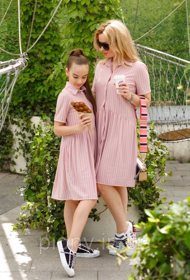 Летнее платье мама и дочка
