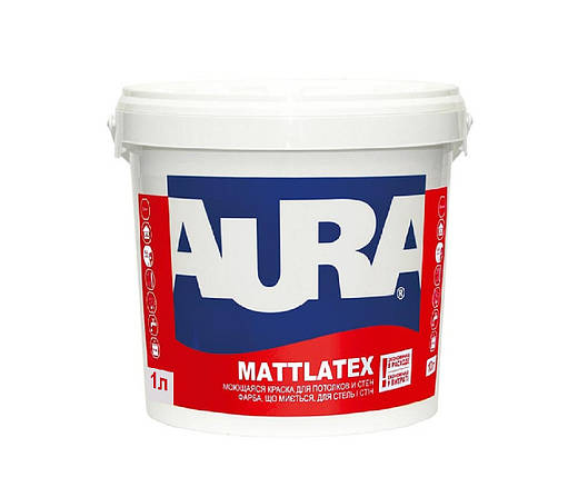 Краска AURA Mattlatex моющаяся латексная 10 л, фото 2