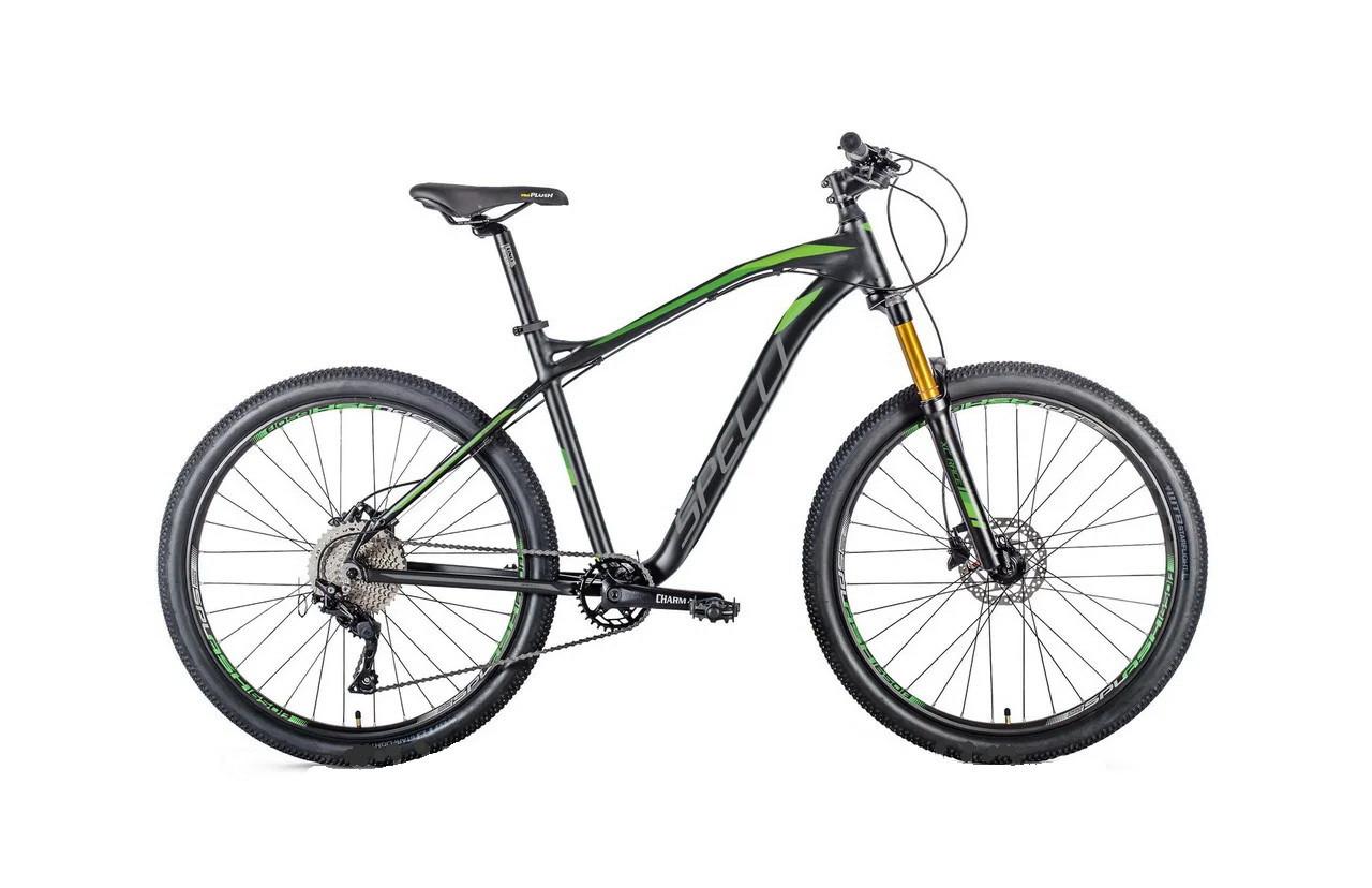 """Велосипед SPELLI 29"""" SX-6200 PRO рама 19"""" чорний/зелений"""