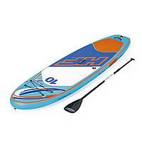 Доска для САП серфинга BESTWAY SUP-БОРД 65330 Голубой (305-84-15 см) | Надувная доска Hydro-Force HuaKa'i