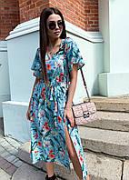 Платье летнее средней длины с разрезом, фото 1