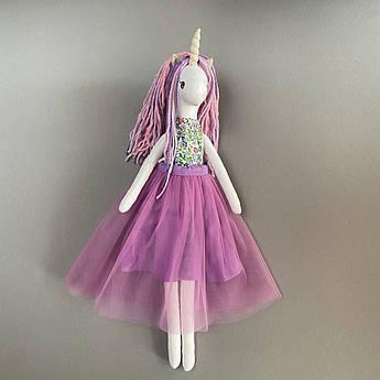 Единорог мягкая игрушка текстиль 43 см розовый