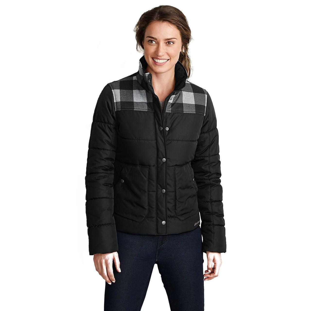 Куртка Eddie Bauer Womens Boyfriend Jacket BLACK (S)