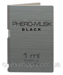 Пробник PHERO-MUSK BLACK for men, 1 ml