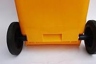 Бак для мусора  пластиковый 120л, желтый 120A-9Y, фото 2