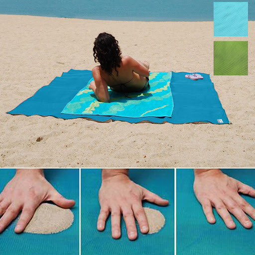 Пляжная подстилка-коврик для моря анти-песок