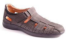 Туфли мужские серые Mida 130006